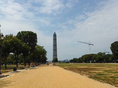 The Washington Monument with Scaffolding