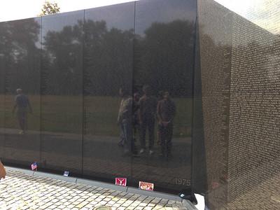 Reflected in the Vietnam War Memorial
