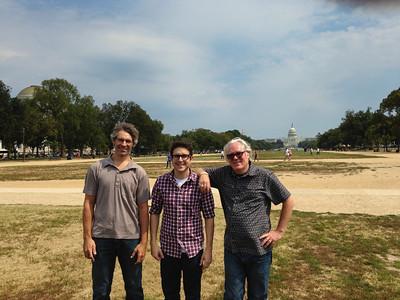 Tony, Vito and Gary on the National Mall