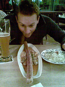 Check out my 1/2 meter Bratwurst!