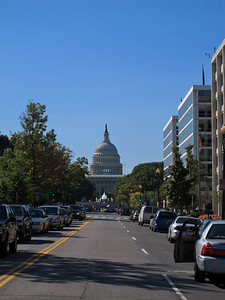 View of the Capitol from N Capitol St NW