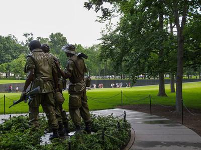 Looking Toward the Vietnam Veterans Memorial Directory