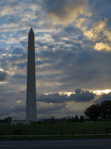 Clouds and Washington Monument