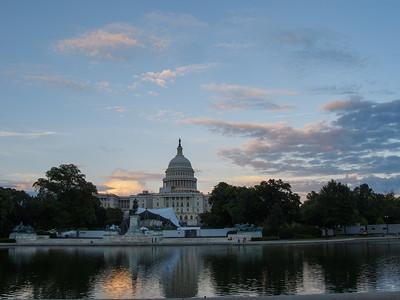 Reflected Capitol at Dusk