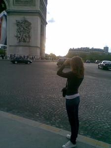 A great view of the Arc de Triumphe