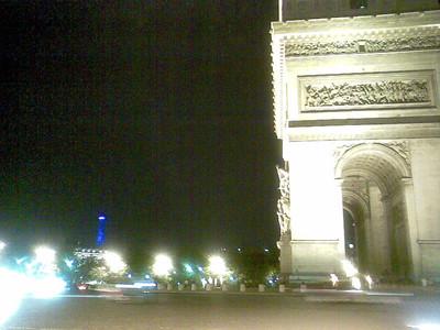 Arc de Triumph and the Eiffel Tower