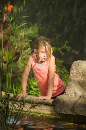 Girl water l at butterfly garden 3702