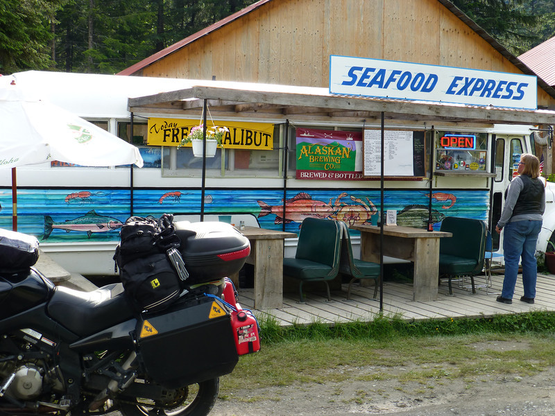 The Bus in Hyder. Best fish 'n chips I've ever had!!