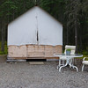 Thompson's had a number of different styles of accommodations.....this is the wall tent...