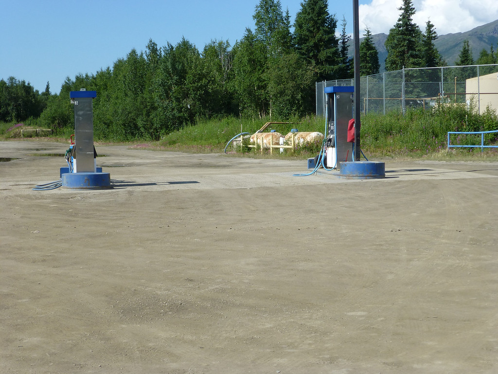 Next to the bar, the liveliest spot in Coldfoot...the only gas pumps between the Yukon River and Prudhoe Bay 245 miles away.