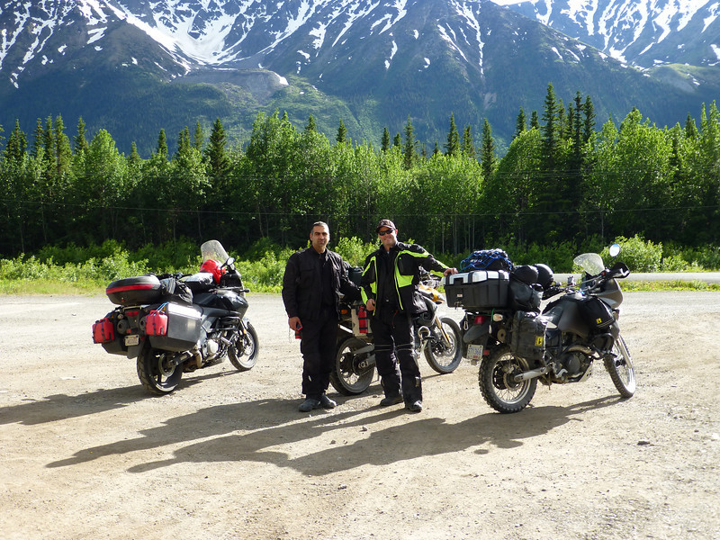 ...Cannonball and Switchblade...we decided since we were all headed to Alaska, we might as well ride together. They were the best traveling pardners you could ask for....both from Vancouver and none of us had ever met before.