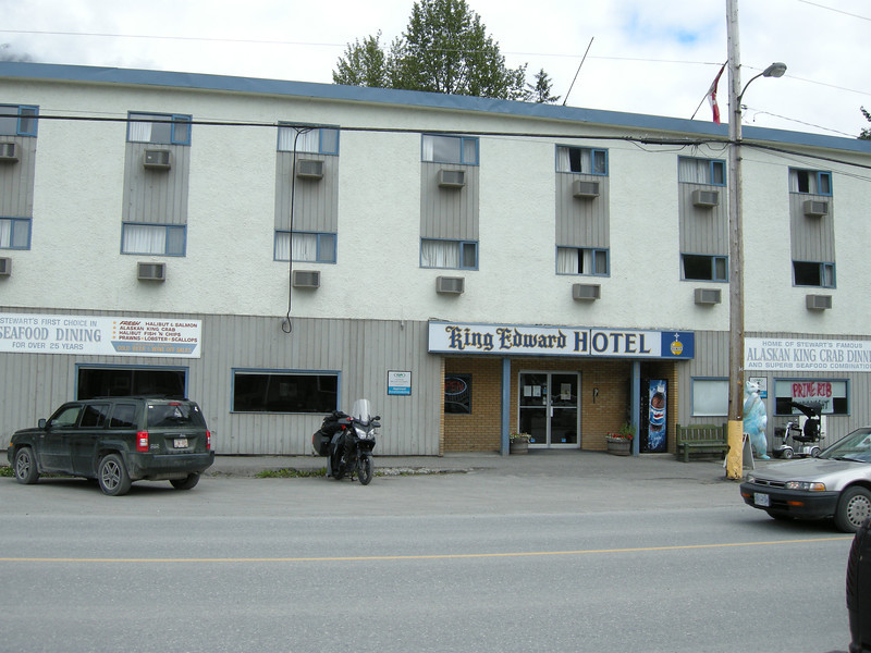The King Edward in Stewart, BC. It kept me dry and the mosquitoes off....right outside the door is a different matter altogether....