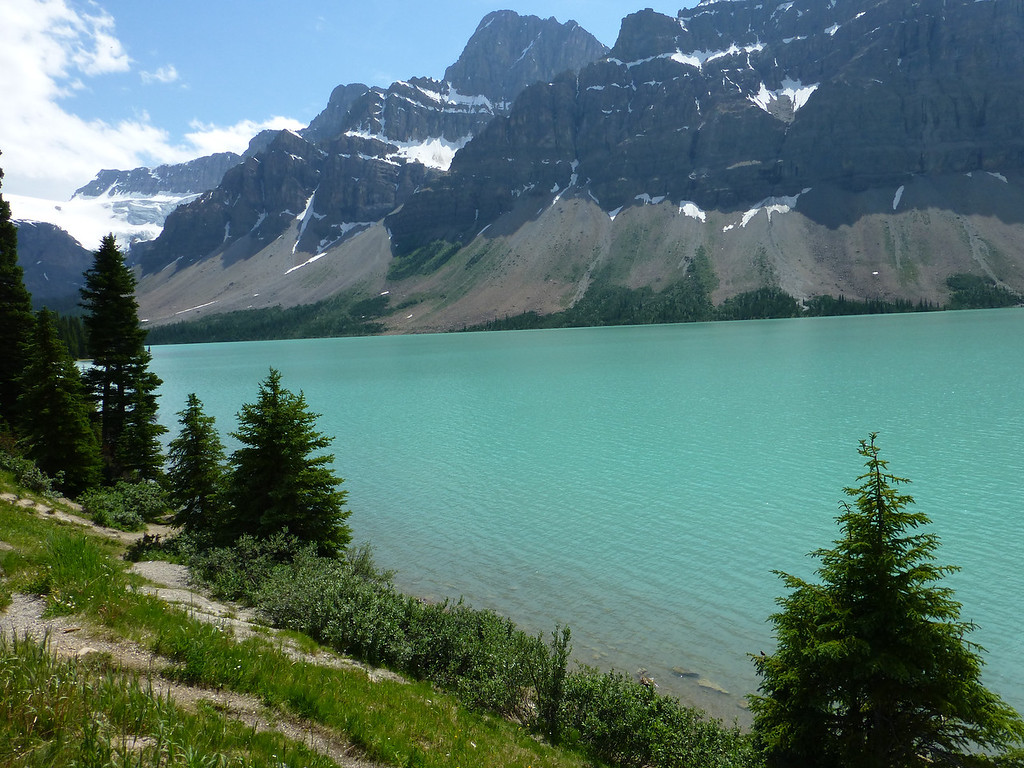 Bow Lake just west of Banff. I thought it was Emerald Lake, but I got it wrong....sigh...still, real pretty!