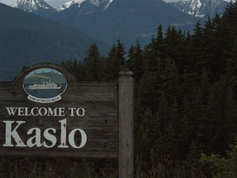 Kaslo....what a beautiful community in the mountains. Larry and Jill Braley live here and invited me to stay a couple of days. Larry and I have been corresponding for about 7 years and had never actually met. Once again, the common bond was the V Strom. They were wonderful hosts, and tolerated me nicely. I had an issue with the sidestand on the bike, and their friend Pat got it corrected. Probably saved the trip for me!!