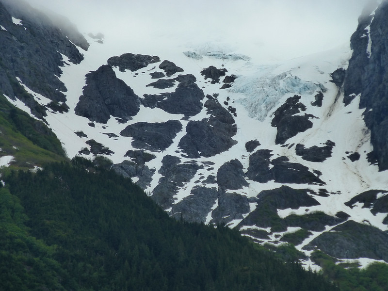 The glacier above Stewart, BC.