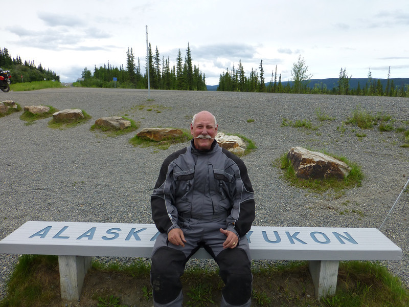 ..one cheek in Alaska, one cheek in Yukon.....