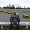 ..one cheek in Alaska, one cheek in Yukon.....