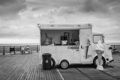 Ice  Cream van on Southport pier