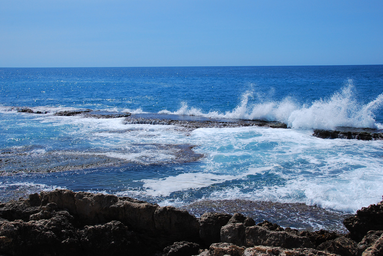 The Byblos shoreline.