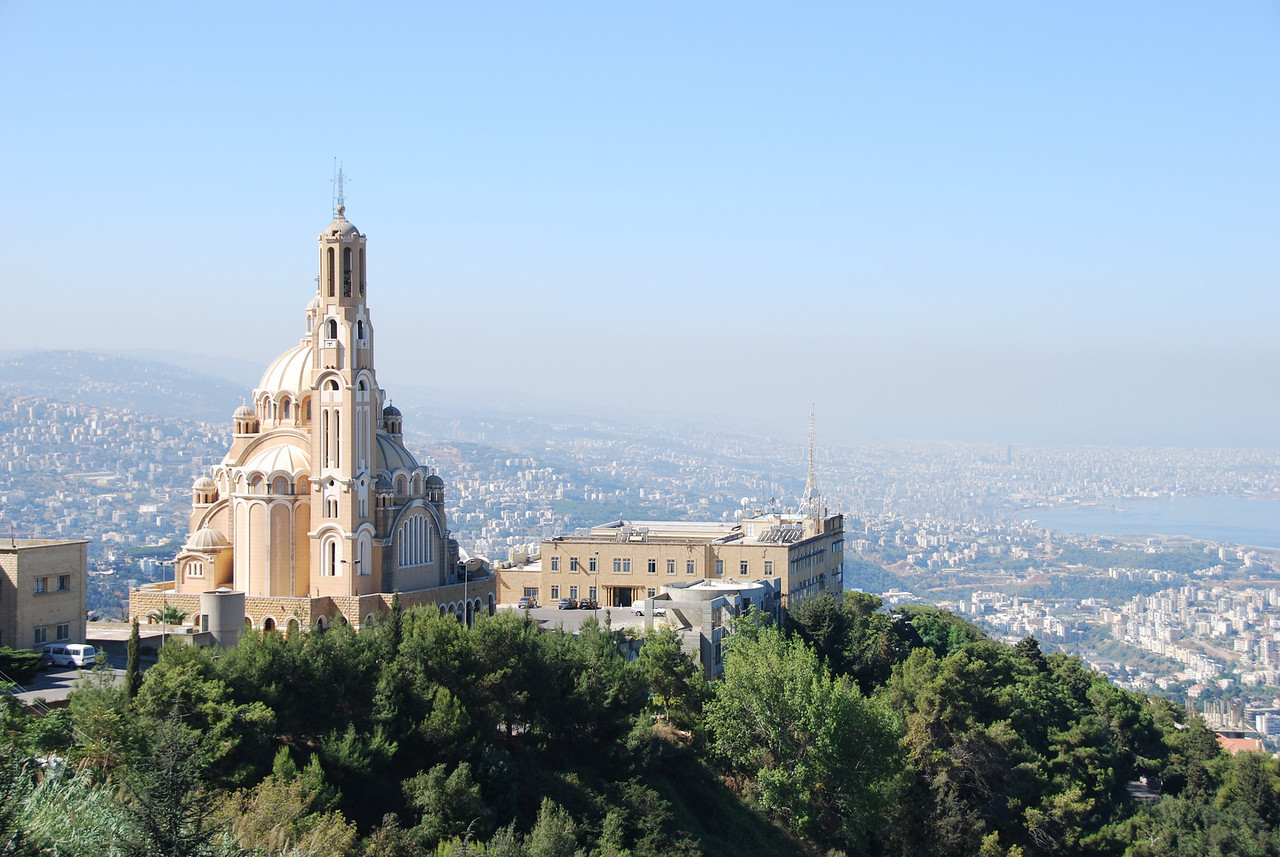 The church overlooking Jounieh.