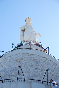 The statue of Our Lady of Lebanon overlooking Jounieh.