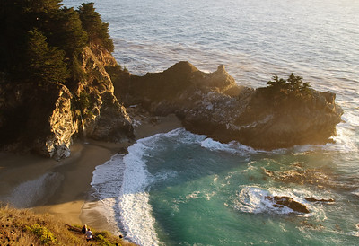 Sunset over McWay Falls, Julia Feiffer Burns State Park, Big Sur
