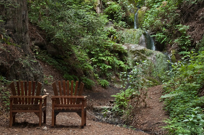 Waterfall, Deetjen's Big Sur Inn