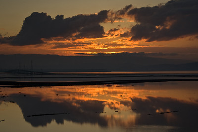 Sunset over the Dumbarton Bridge (Don Edwards National Wildlife Reserve)