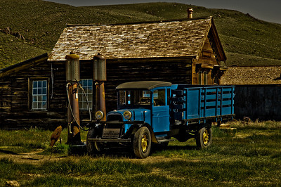 """Bodie,  ghost town from the late 1800's  """"Shell Gas Station"""""""