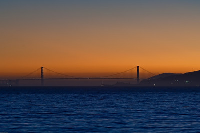 Golden Gate Bridge San Francisco Bay at sunset