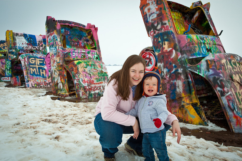 Connor at Cadillac Ranch-2010-6081