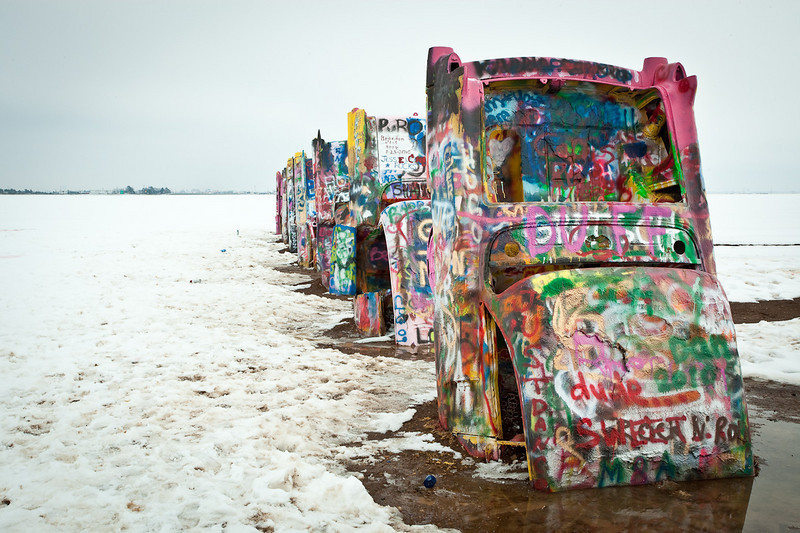 Connor at Cadillac Ranch-2010-6085