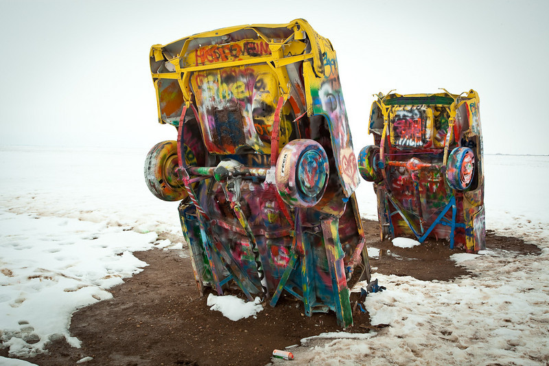 Connor at Cadillac Ranch-2010-6101
