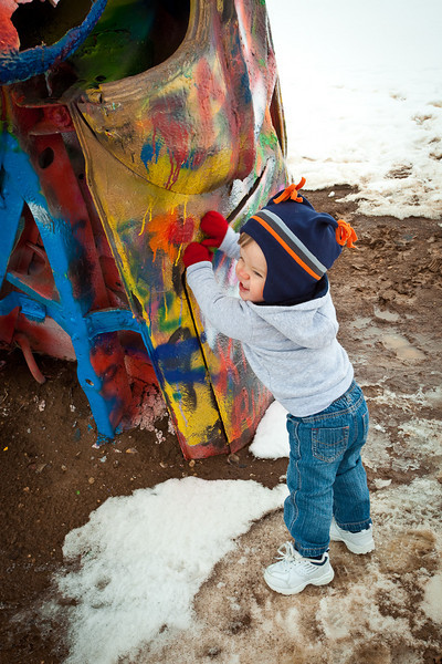 Connor at Cadillac Ranch-2010-6086