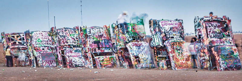 """GHOSTS"" OF CADILLAC RANCH - JULY 2011"