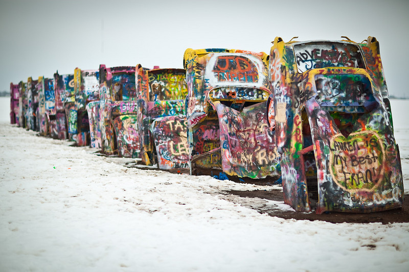 Connor at Cadillac Ranch-2010-6105