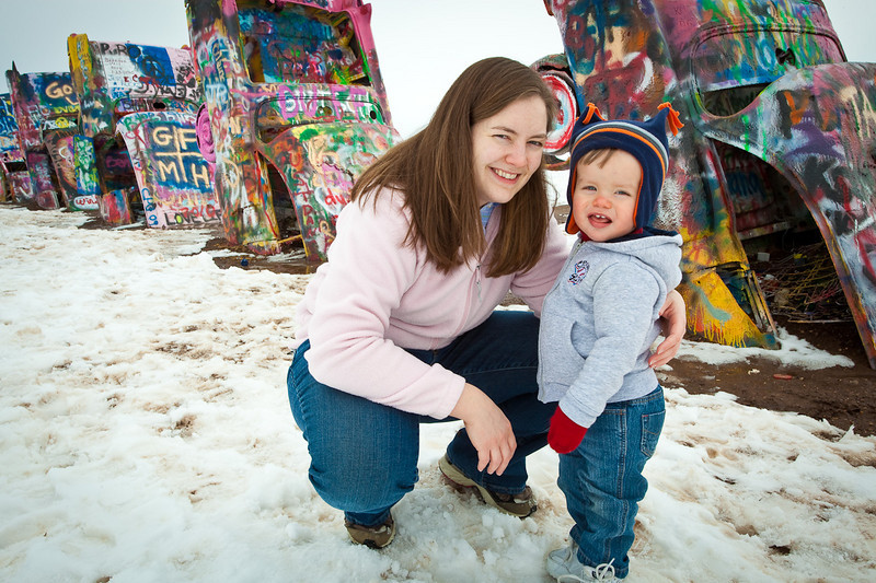 Connor at Cadillac Ranch-2010-6084
