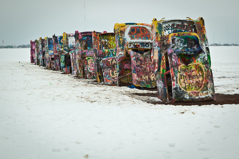 Connor at Cadillac Ranch-2010-6119