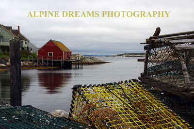 LOBSTER TRAP VIEW FROM PEGGYS COVE