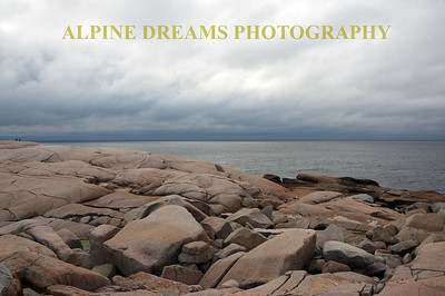 WEATHERED SHORELINE IN NOVA SCOTIA
