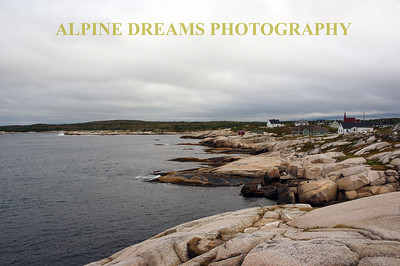 PEGGYS COVE FROM THE LIGHTHOUSE