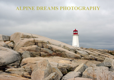 ROCKS & LIGHTHOUSE PEGGYS COVE