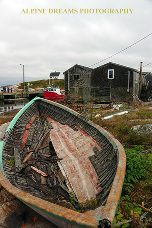 BOAT NEEDING TLC IN PEGGYS COVE