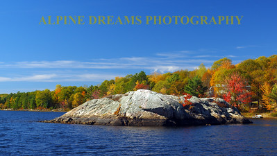 ROCK ISLAND ON KENNEBEC LAKE