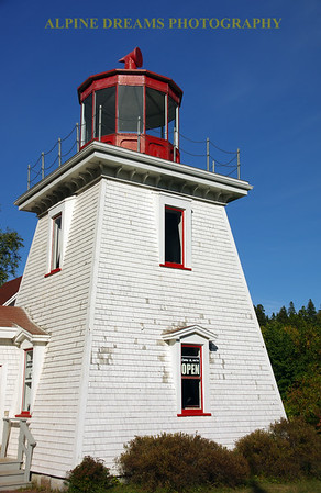 LIGHTHOUSE NEAR THE BAY OF FUNDY
