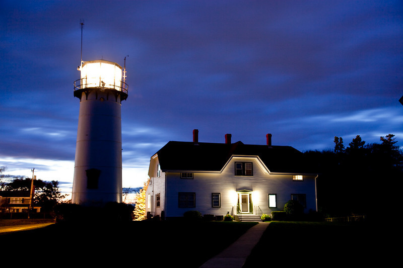 CHATHAM LIGHT AT DUSK