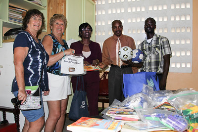 we brought books and soccer balls to a school in Grenada