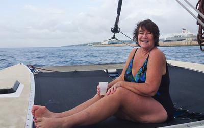 Judi with rum punch
