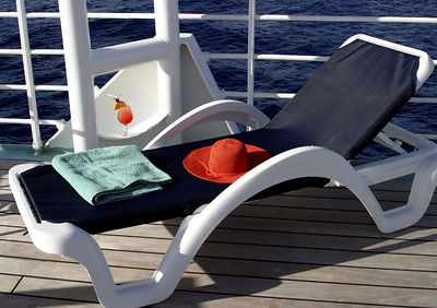 A deck chair in a perfect spot