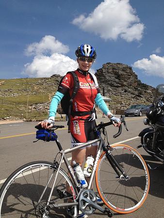Calla at the first summit on Trail Ridge Road